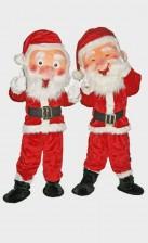 Big head Santa Claus mascots for rental