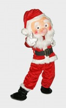 Santa Claus mascots for rental