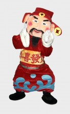 Fortune God mascots for rental
