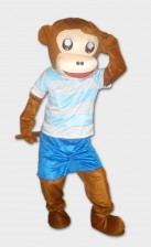 Sporty Monkey mascots for rental