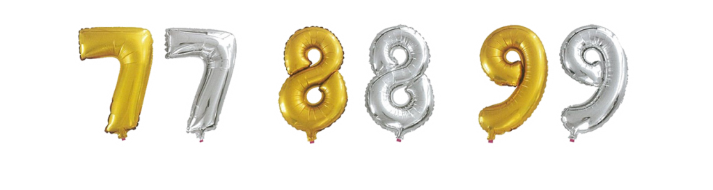 Metallic Silver or Gold Numeric