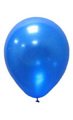 Pearlised Latex Color Balloons - Blue