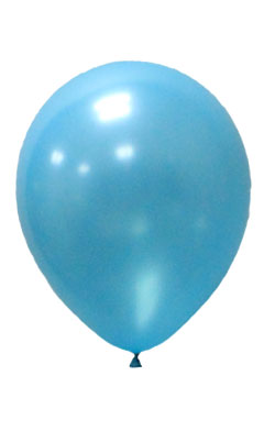 Pearlised Latex Color Balloons - Cyan Blue
