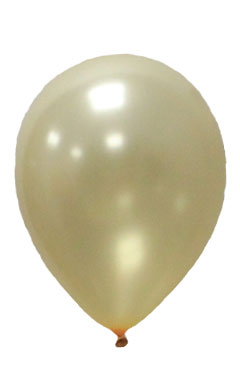 Pearlised Latex Color Balloons - Gold
