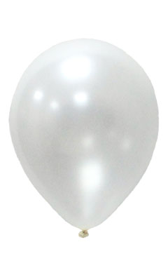 Pearlised Latex Color Balloons - White