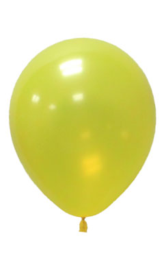 Pearlised Latex Color Balloons - Yellow